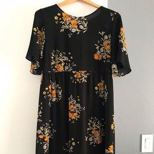 Zara Basic Collection Floral Dress (L)